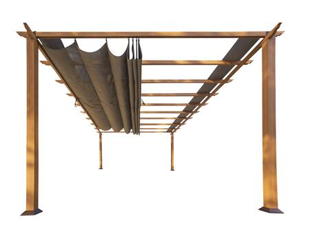 Florence PR16WD1C 11' x 16' Aluminum Pergola With the Look of Canadain Wood with Cocoa