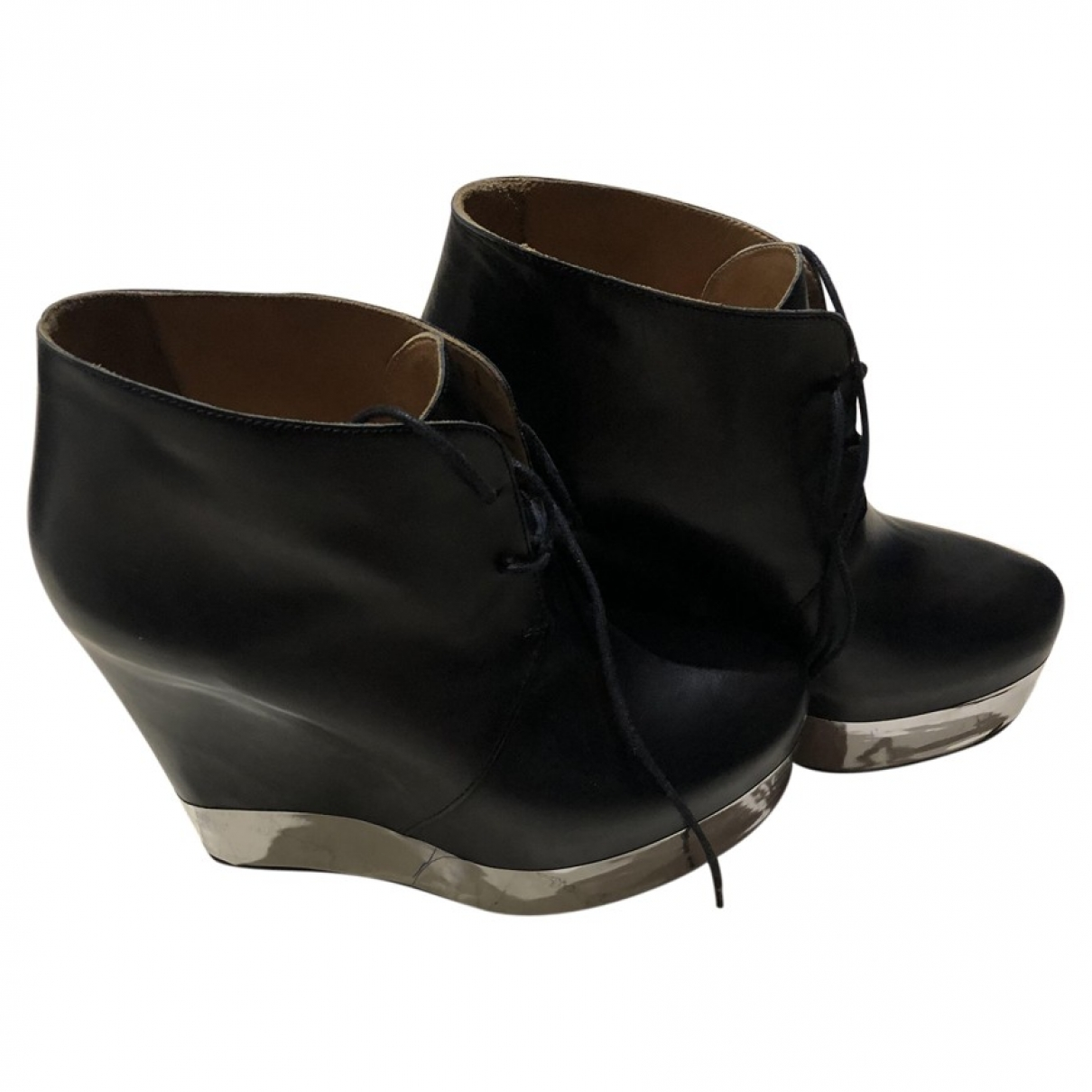 Acne Studios \N Black Leather Ankle boots for Women 40 EU
