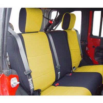 Coverking Neoprene 60/40 Rear Seat Cover (Black/Yellow) - SPC192