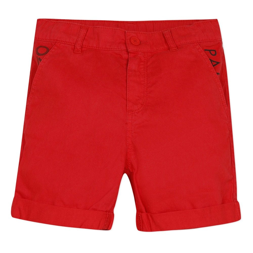Kenzo Kids Paris Chino Shorts Red Colour: RED, Size: 2 YEARS