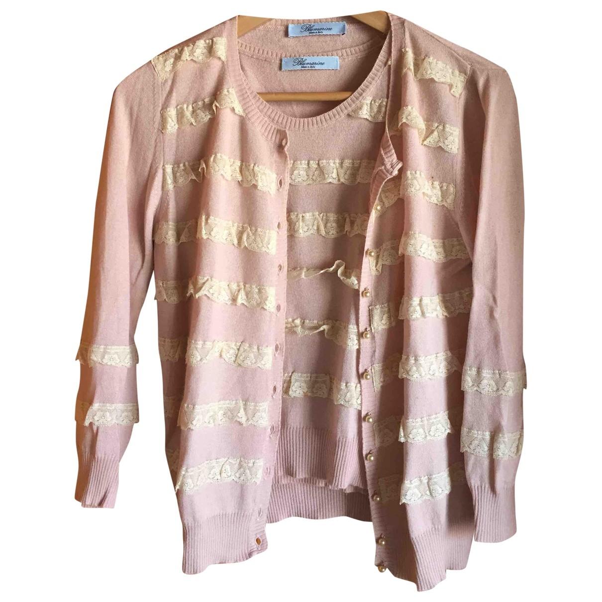 Blumarine \N Pullover in  Rosa Baumwolle
