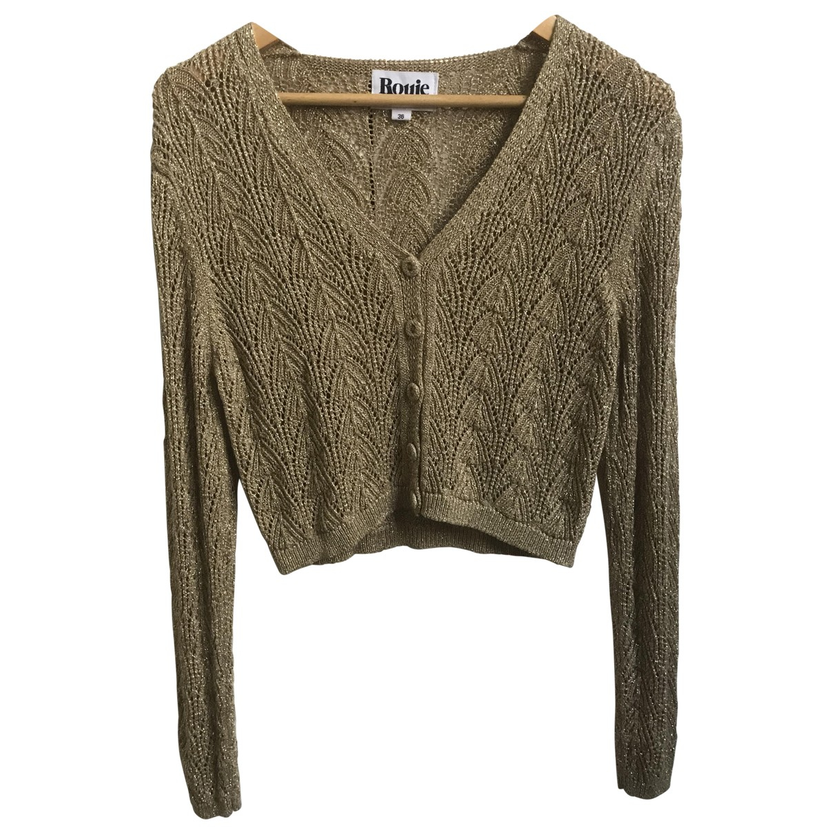 Rouje Fall Winter 2019 Gold Knitwear for Women 36 FR