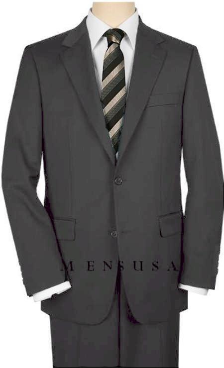 2 Button Charcoal Suit Wide Leg 22 Inch Pants Double Vented Jacket