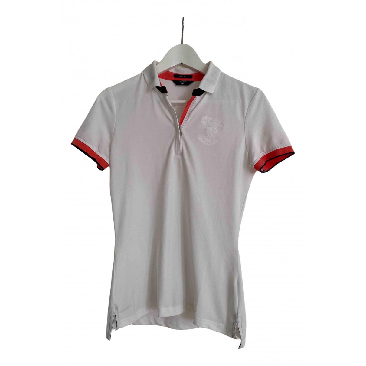 Gant - Top   pour femme en coton - blanc