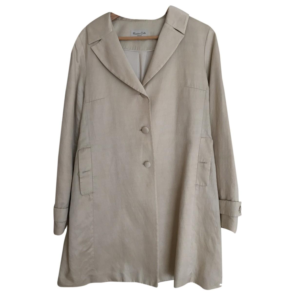 Massimo Dutti - Manteau   pour femme - beige