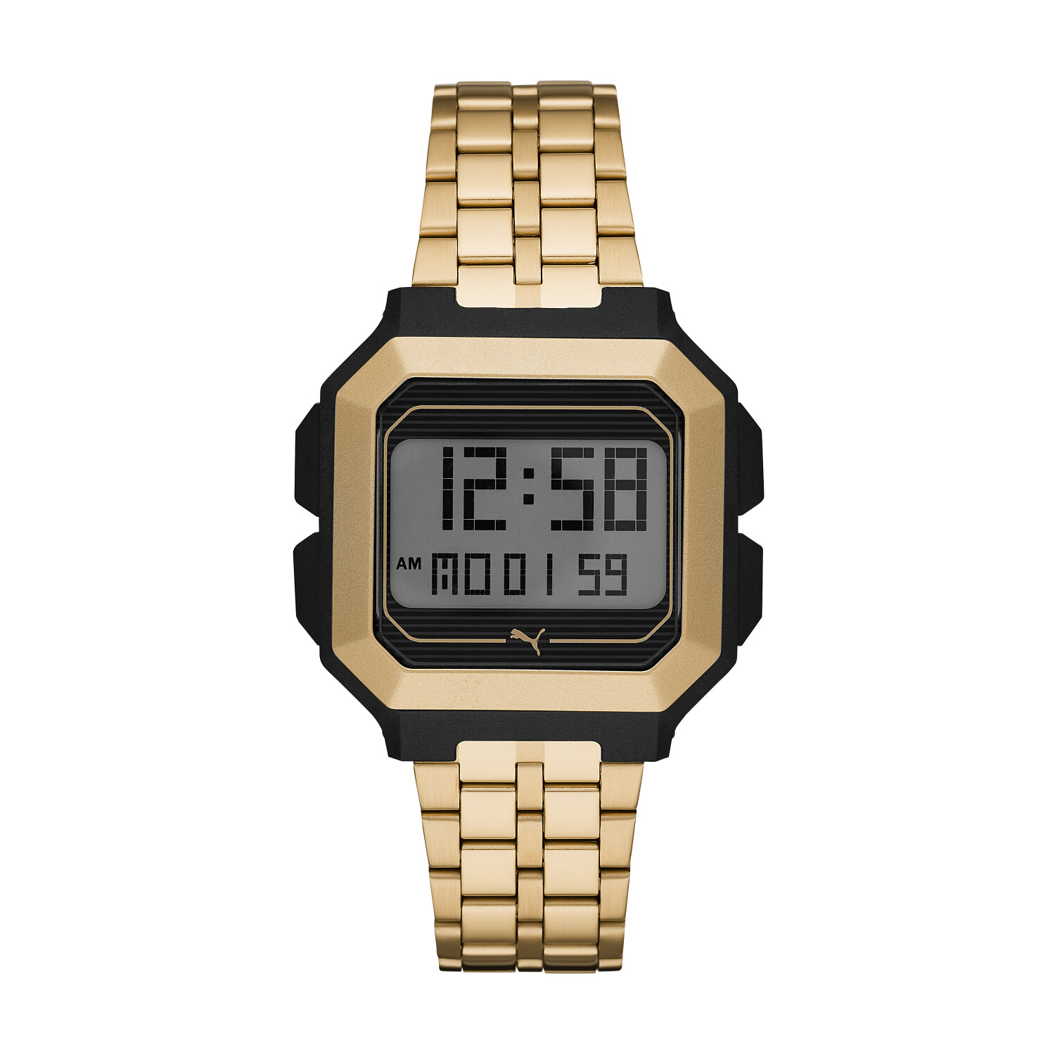 Puma Men's Remix P5016 Gold Stainless-Steel Automatic Self Wind Fashion Watch