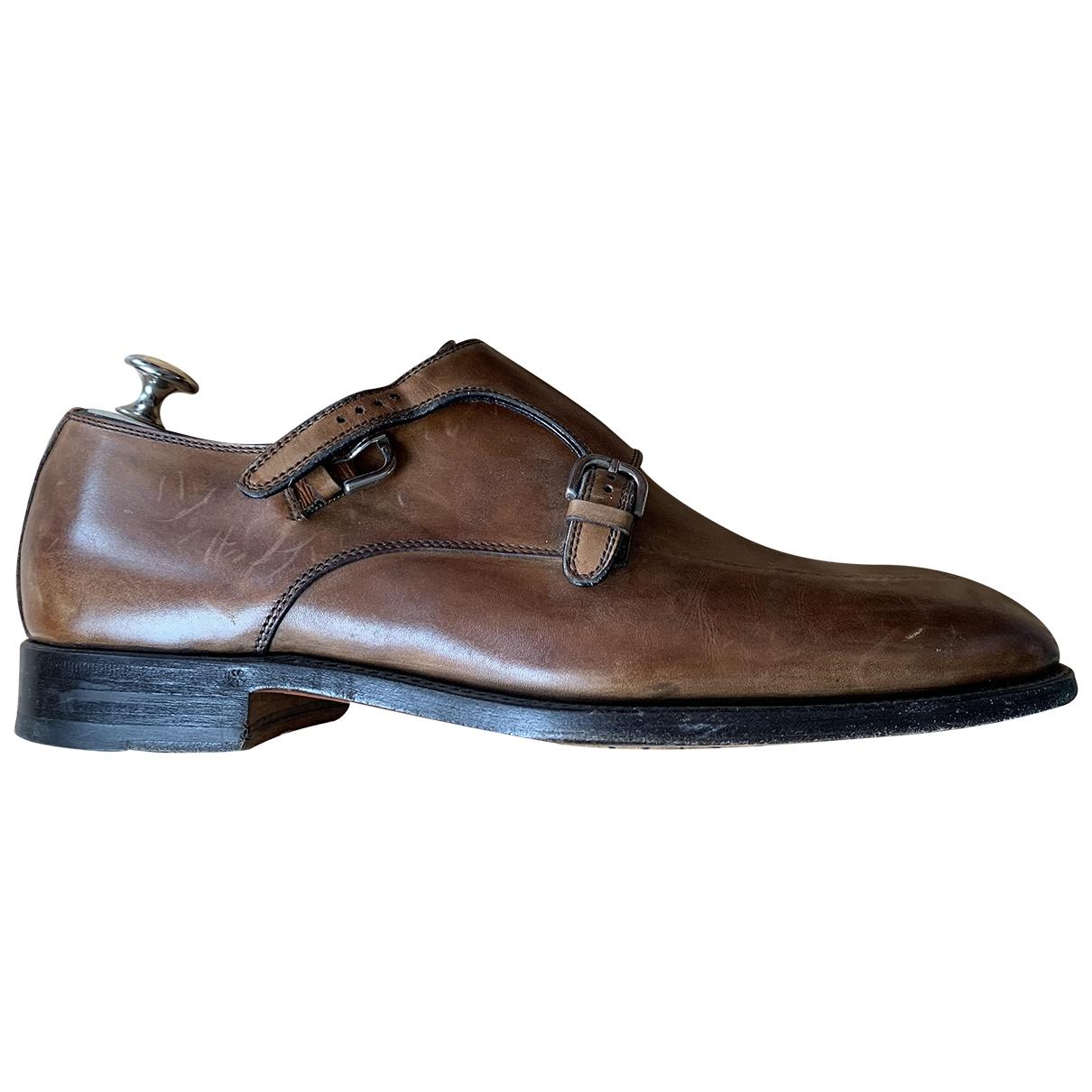 Bontoni - Derbies   pour homme en cuir - marron
