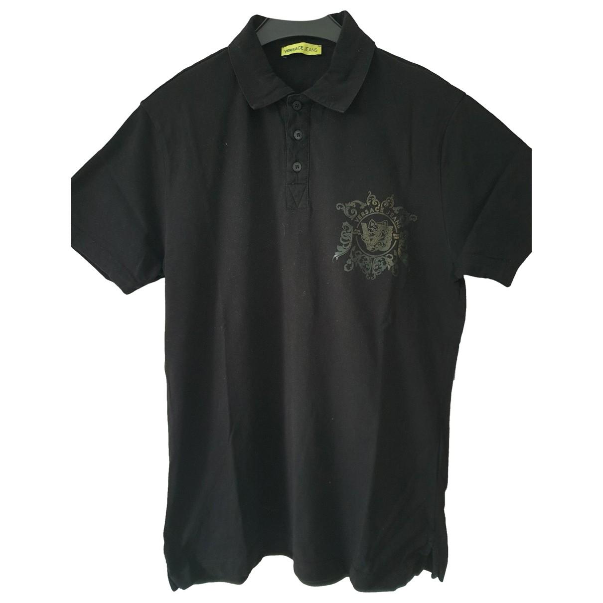 Versace Jean - Polos   pour homme en coton - noir