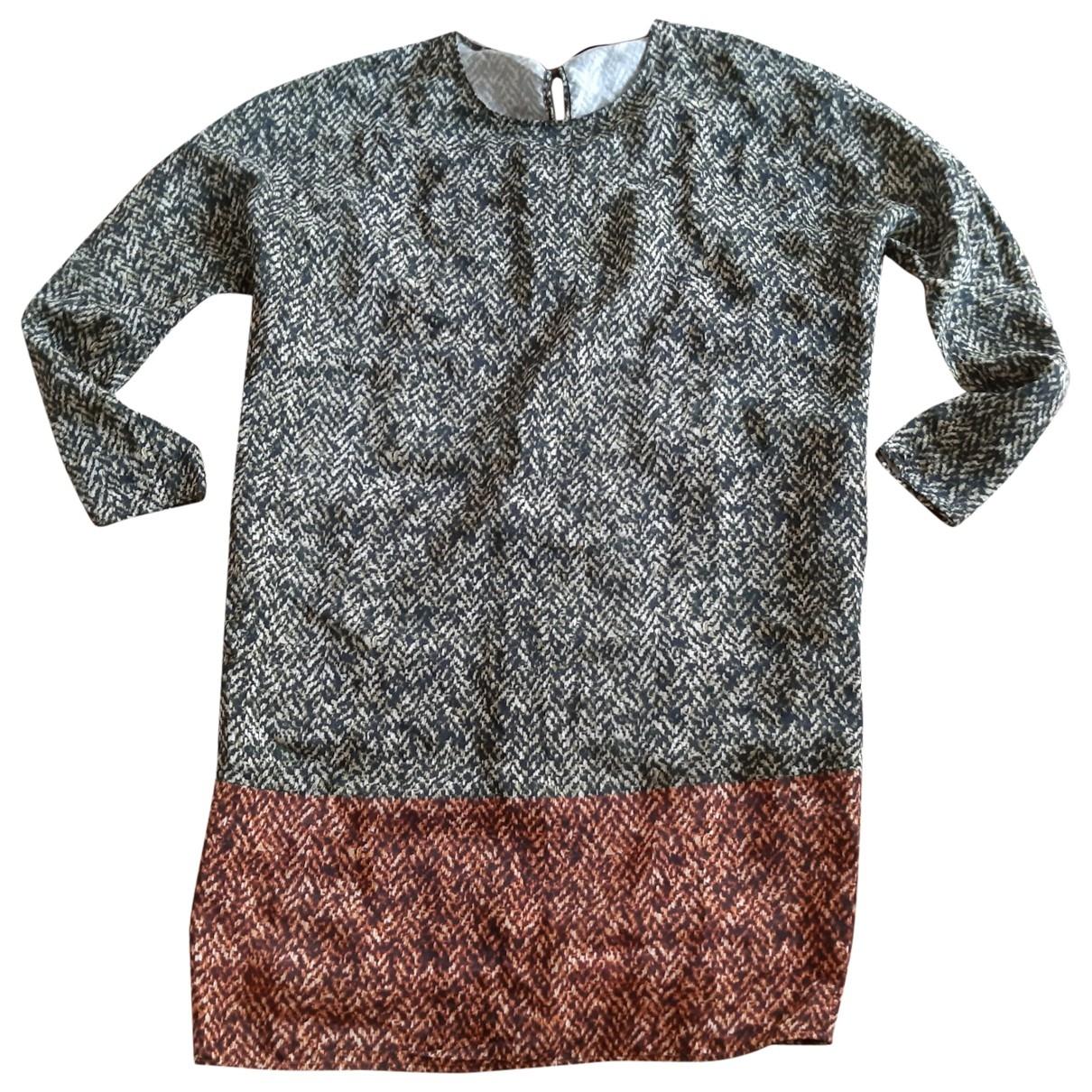 - Robe Oversize pour femme en soie - kaki