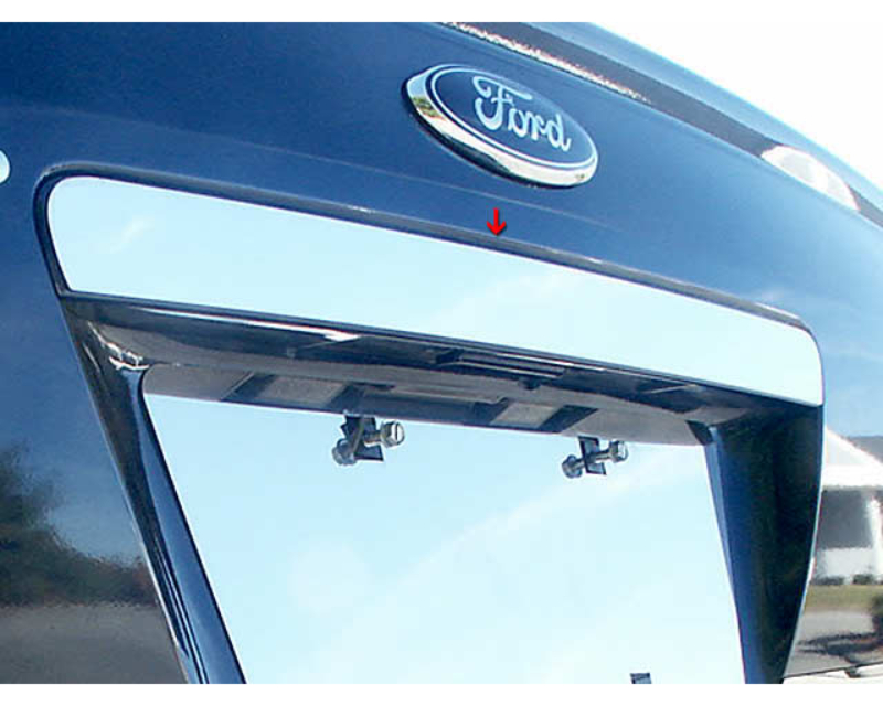 QAA Stainless Rear License Trim 1Pc 2005-2007 Ford Five Hundred