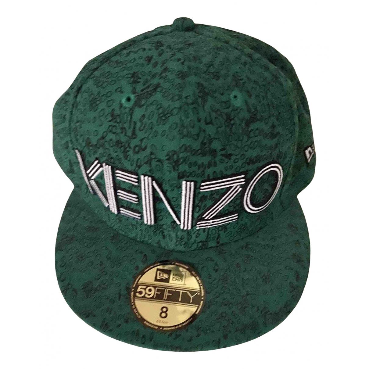 Kenzo - Chapeau & Bonnets   pour homme en coton - vert