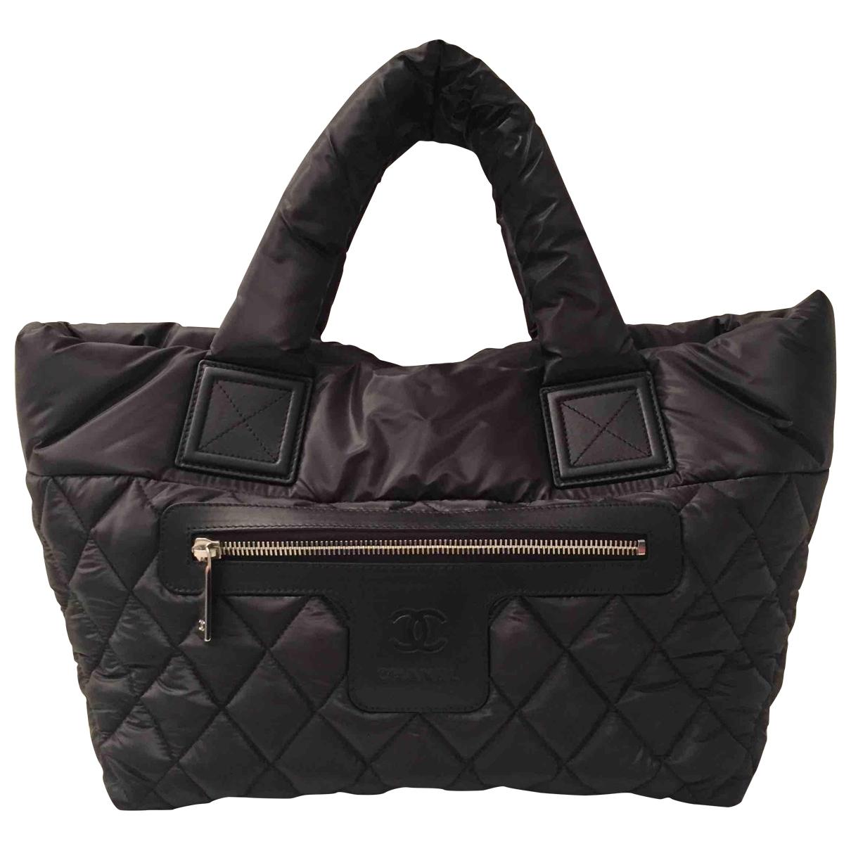 Chanel Coco Cocoon Handtasche in  Schwarz Leinen