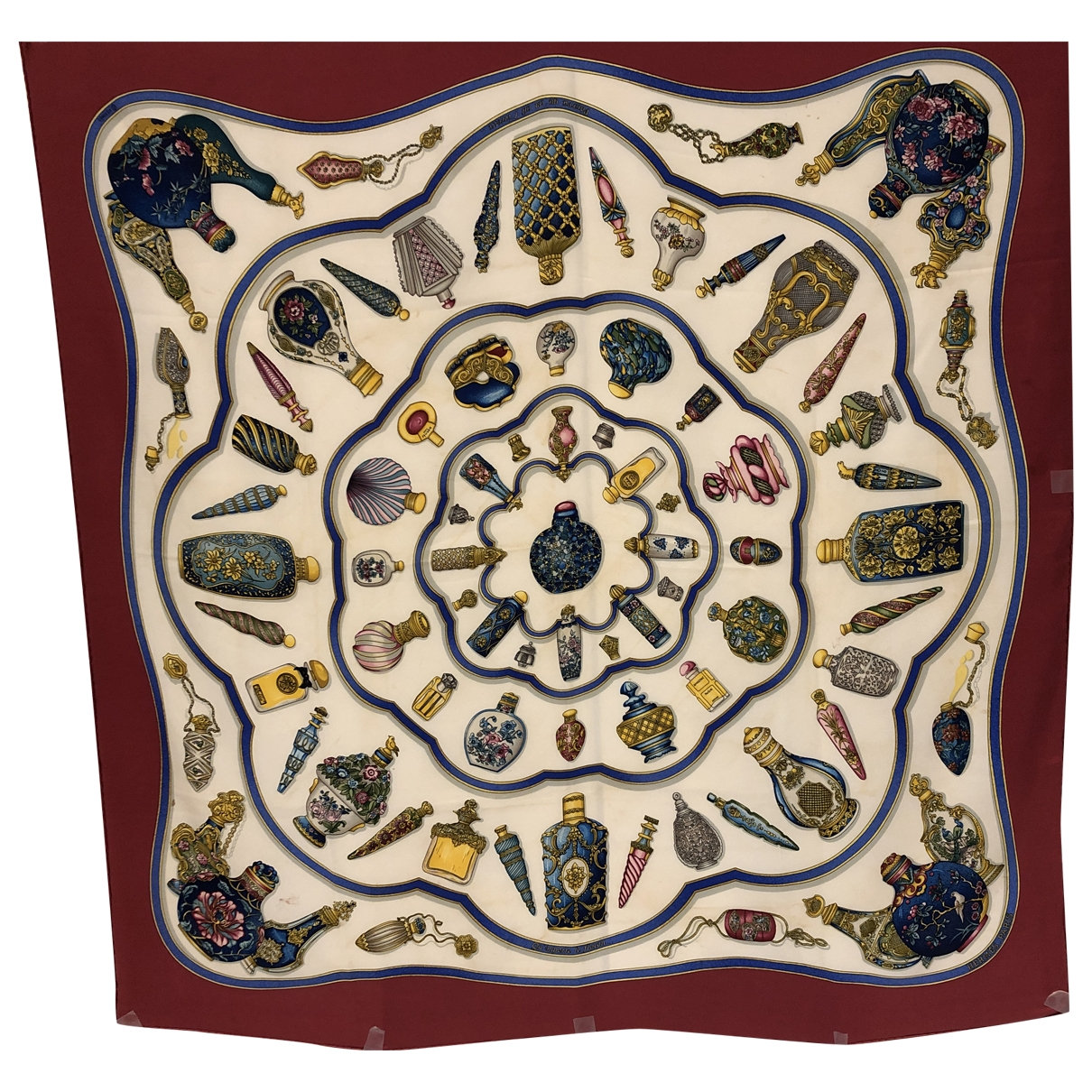 Hermes Carre Geant silk 140 Schal in  Weiss Seide