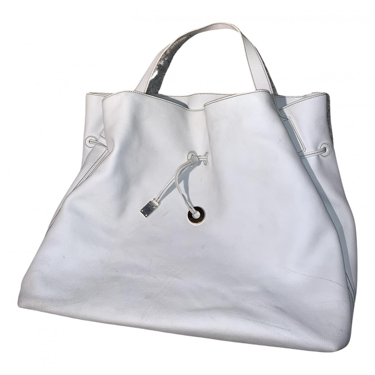Loro Piana - Sac a main   pour femme en cuir - blanc