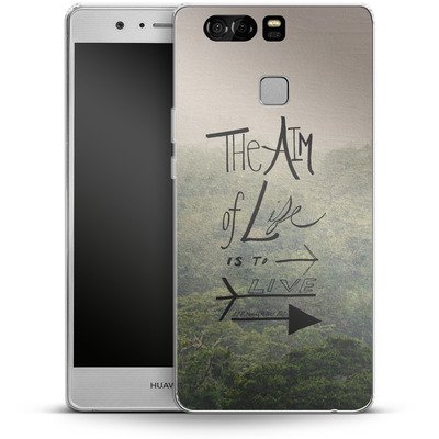 Huawei P9 Silikon Handyhuelle - Aim of Life von Leah Flores
