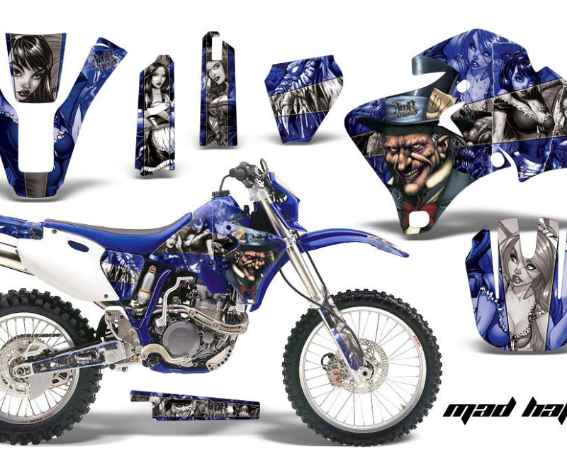 AMR Racing Dirt Bike Graphics Kit Decal Wrap For Yamaha WR 250F |400F |426F 1998-2002áHATTER SILVER BLUE