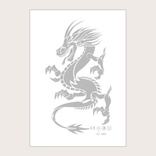 1sheet Chinese Dragon Print Tattoo Sticker
