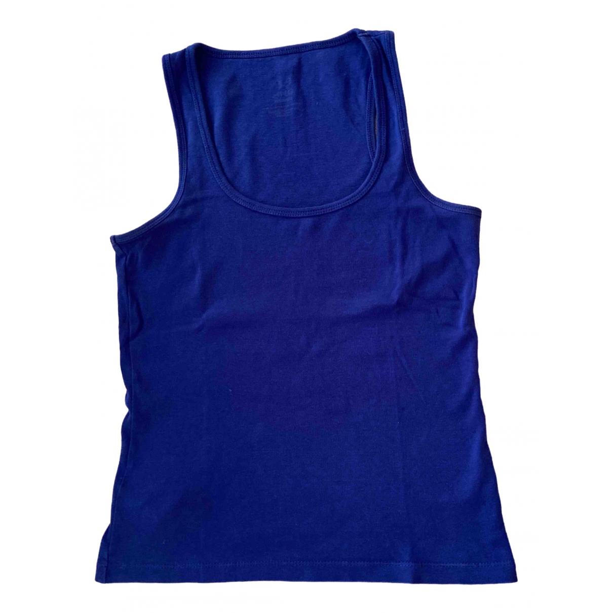 Mango \N Blue Cotton  top for Women S International