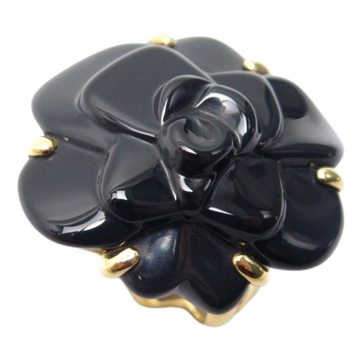 Chanel Camelia Ring in Gelbgold