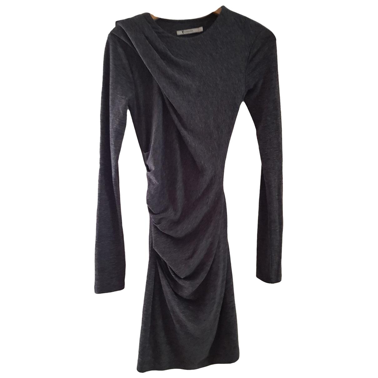 Alexander Wang \N Kleid in  Grau Polyester