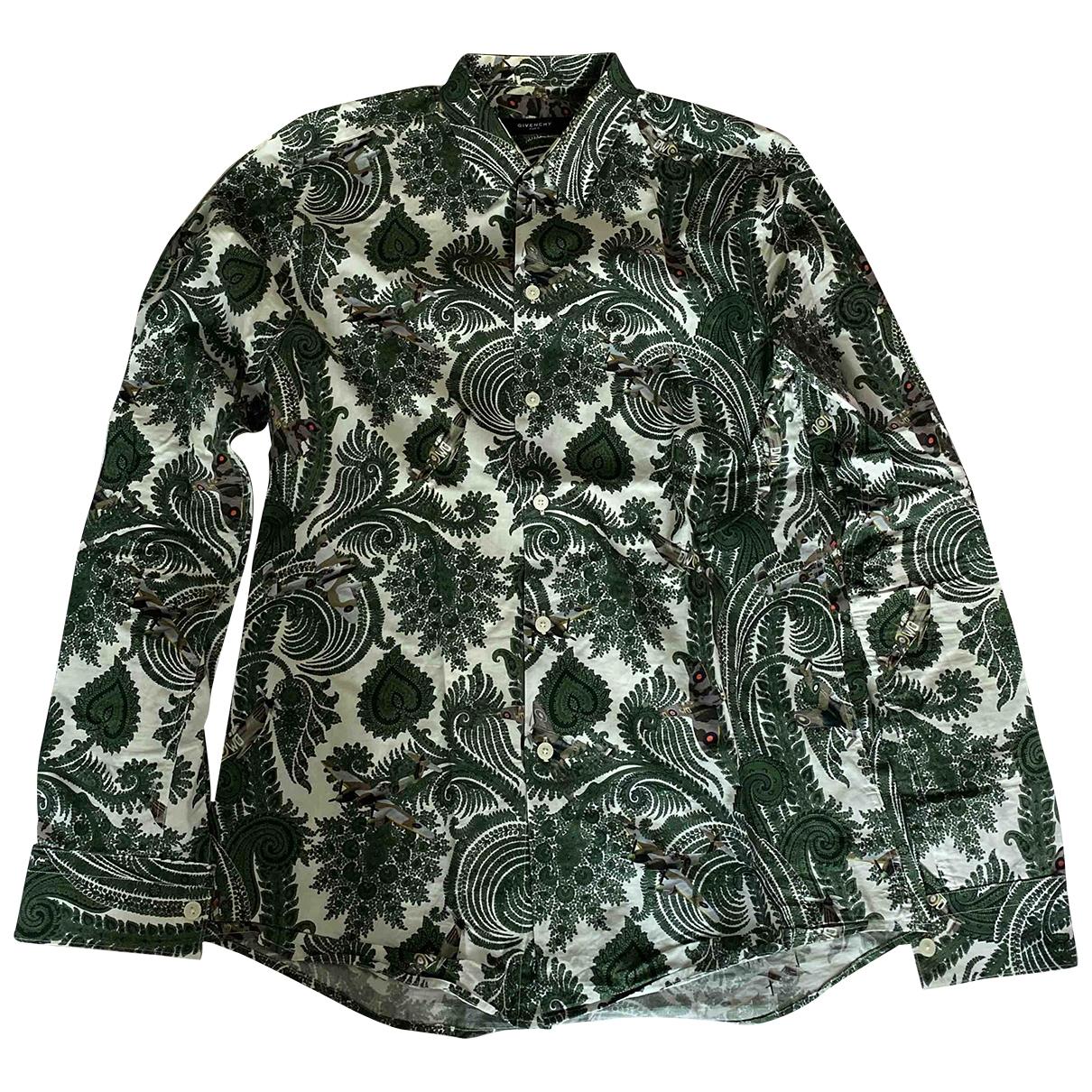 Givenchy - Chemises   pour homme en coton - vert