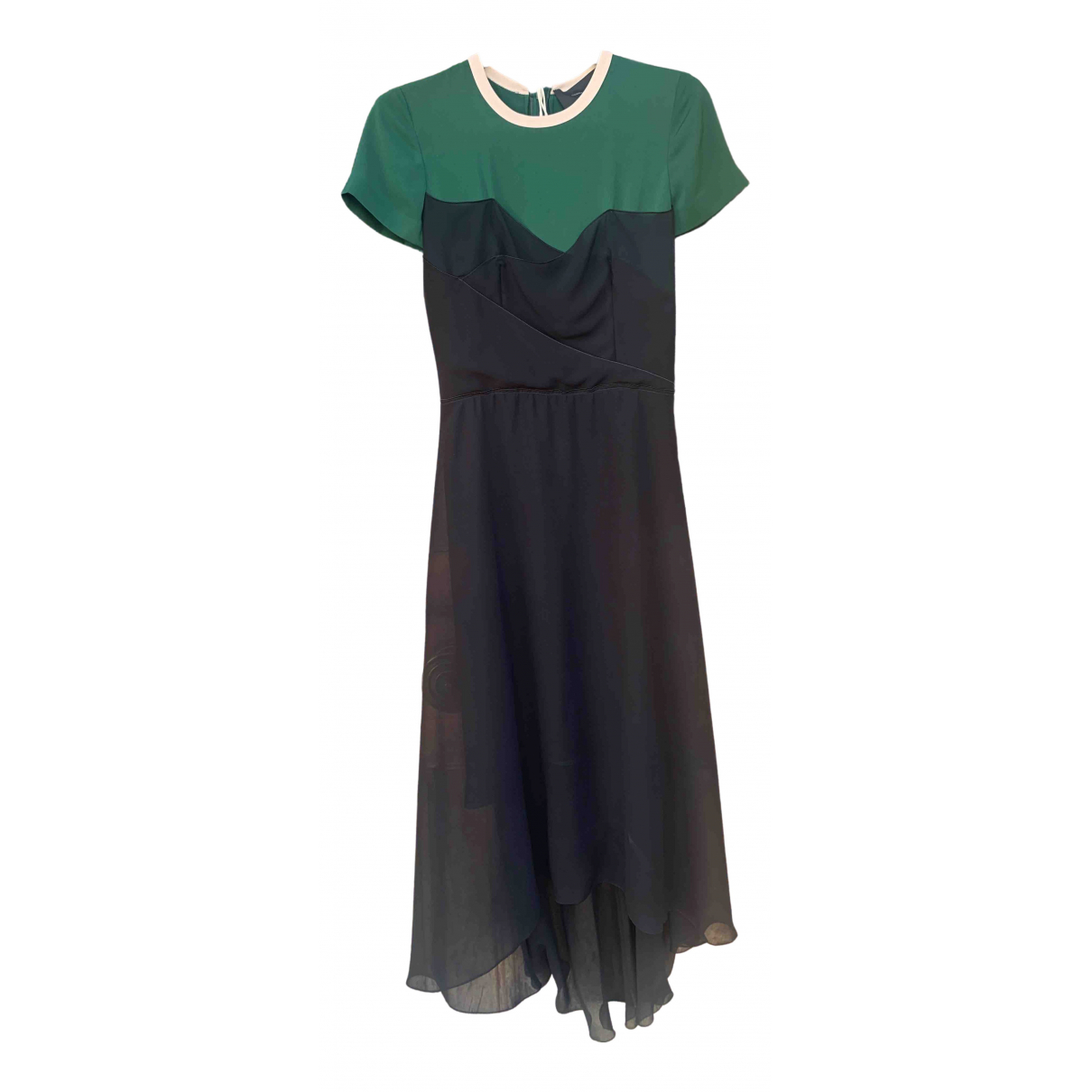 Cedric Charlier \N Kleid in  Gruen Polyester