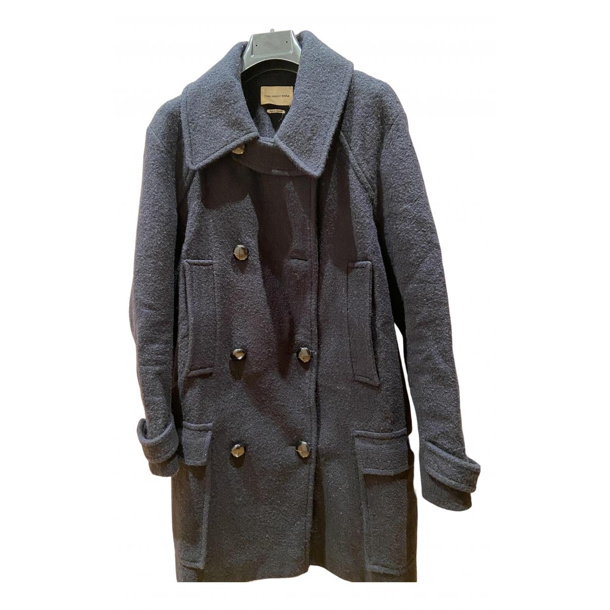 Isabel Marant Etoile - Manteau   pour femme en laine - marine