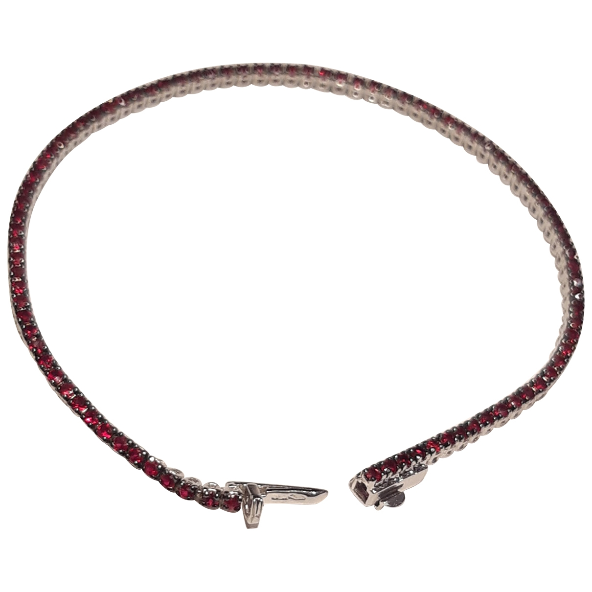 - Bracelet Tennis pour femme en or blanc - noir