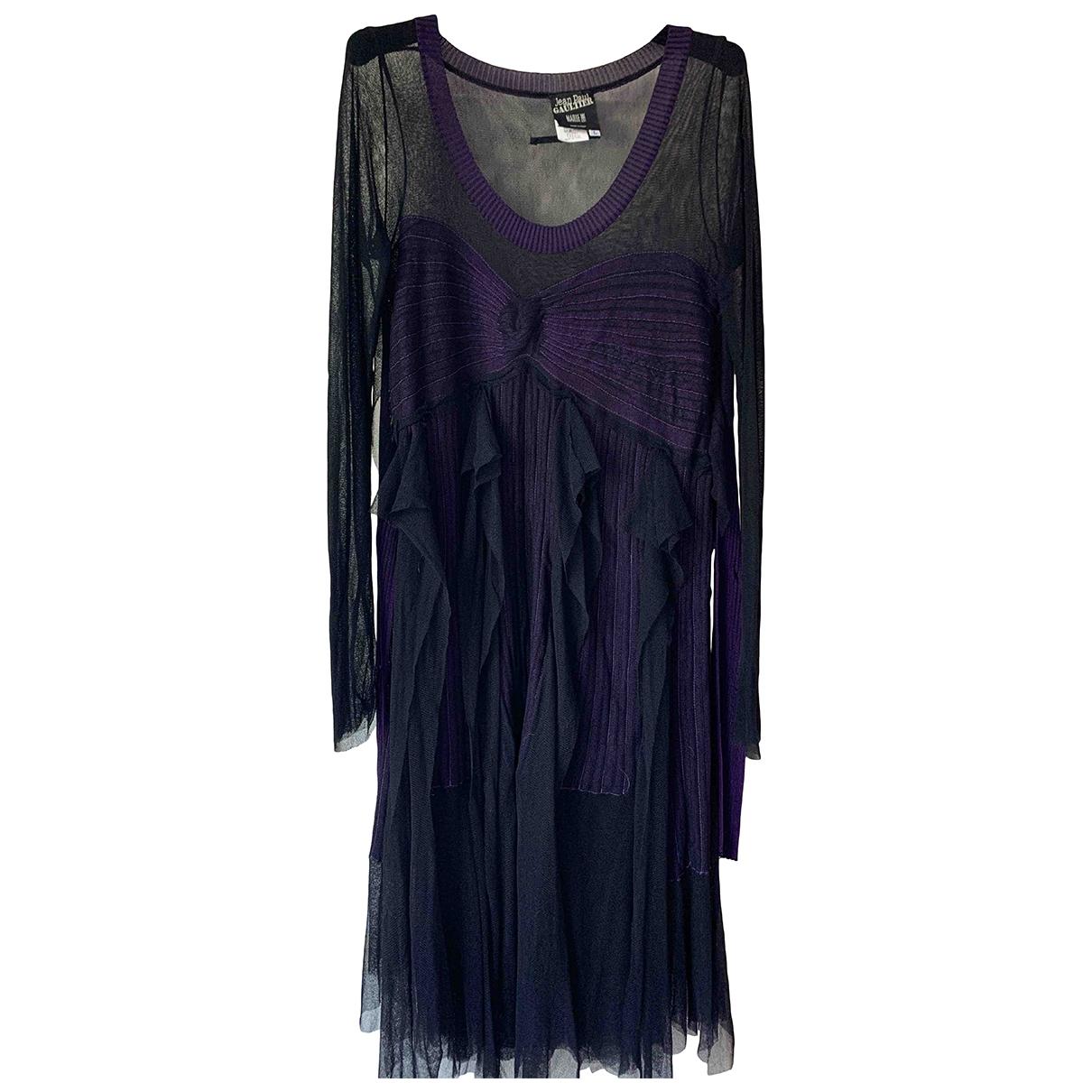 Jean Paul Gaultier \N Kleid in  Schwarz Seide