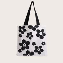 Einkaufstasche mit Blumen Muster
