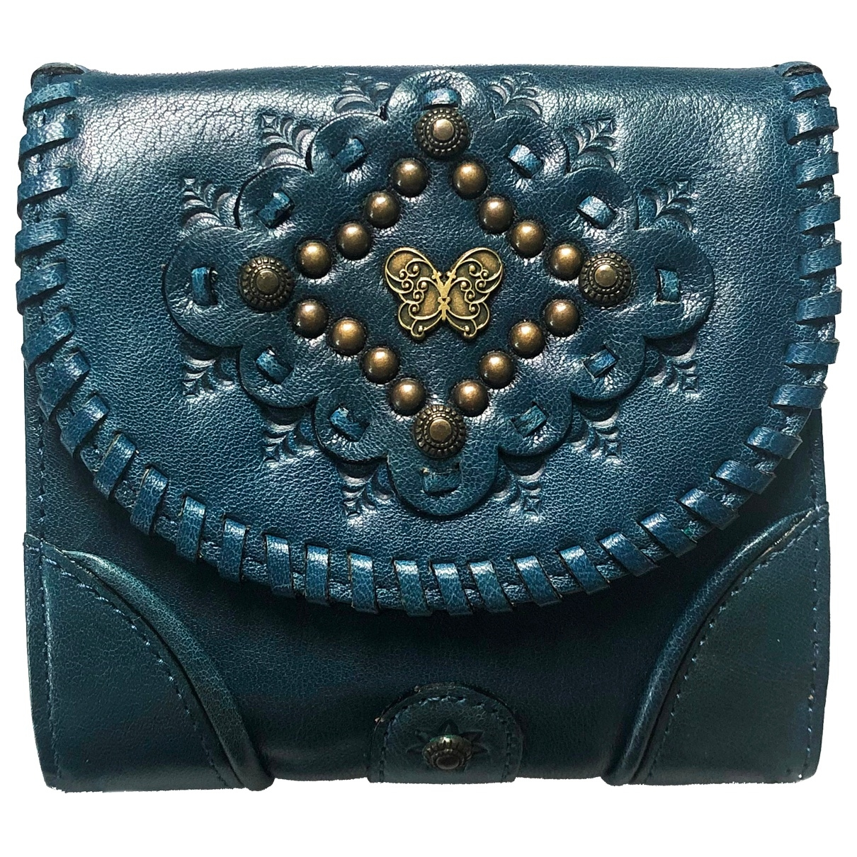 Anna Sui \N Blue Leather wallet for Women \N