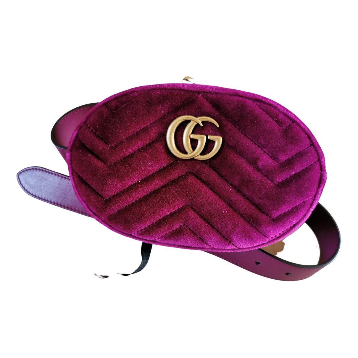 Gucci Marmont Purple Velvet Clutch bag for Women \N