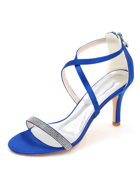 Milanoo Women's Criss-Cross Wedding Shoes Crysta Sandals Stiletto Heel Bridal Shoes
