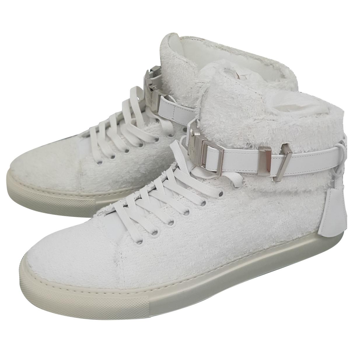 Buscemi \N Sneakers in  Weiss Leinen