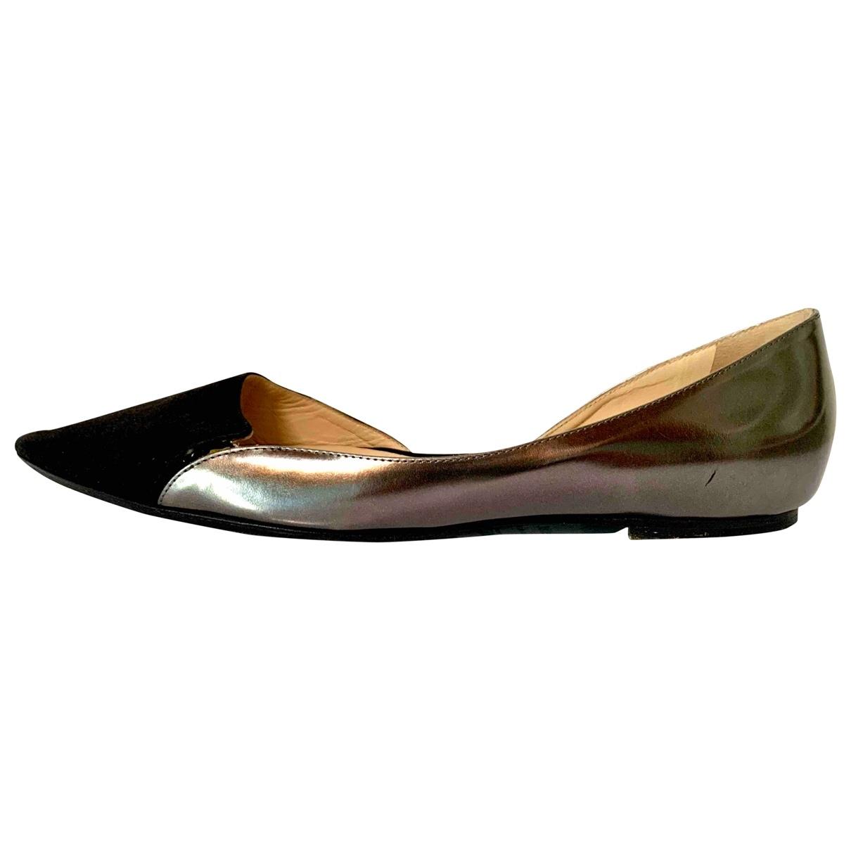 Jimmy Choo \N Black Leather Ballet flats for Women 38.5 IT