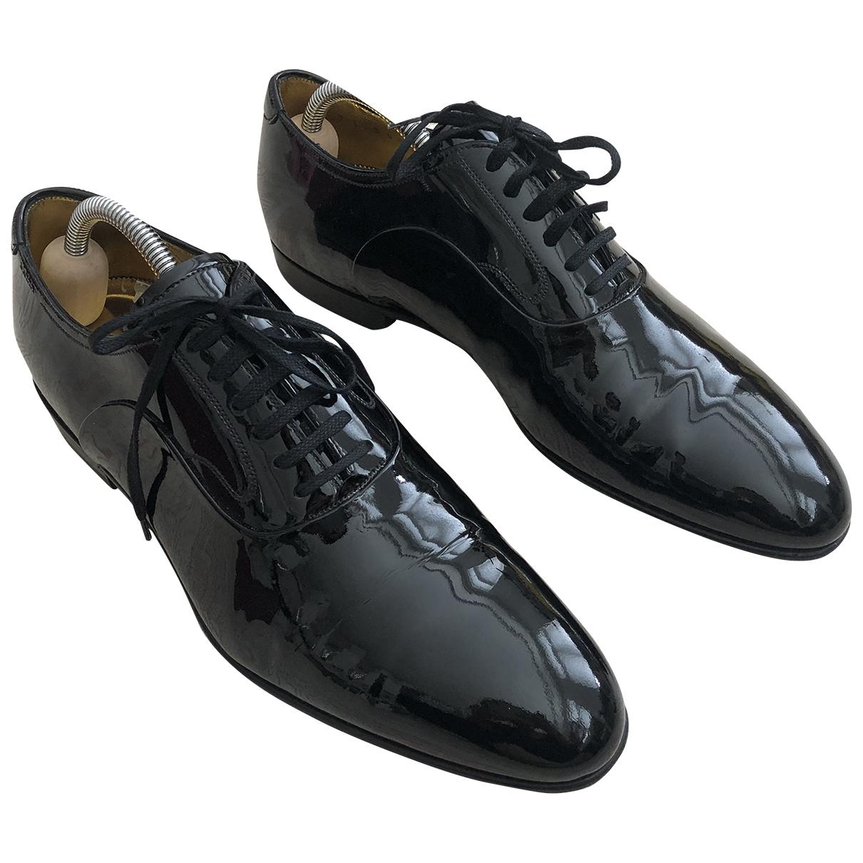 Bally - Derbies   pour homme en cuir verni - noir