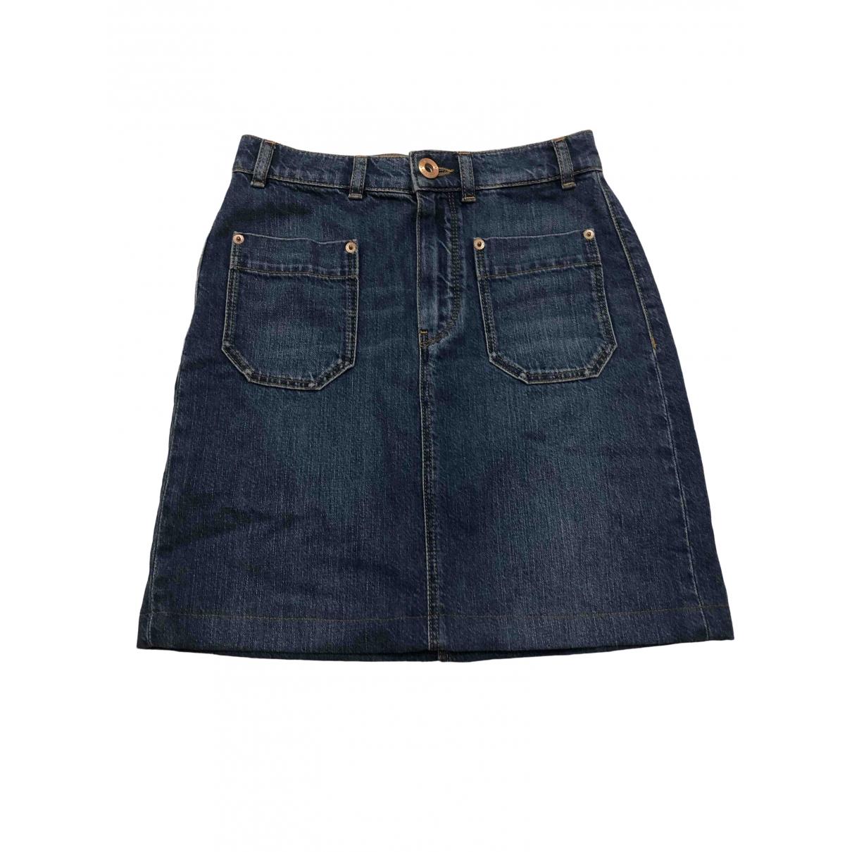Massimo Dutti \N Rocke in  Blau Denim - Jeans