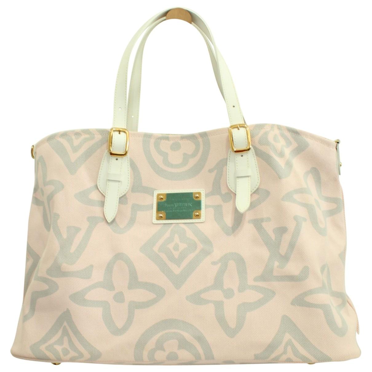 Louis Vuitton \N Handtasche in  Rosa Leinen