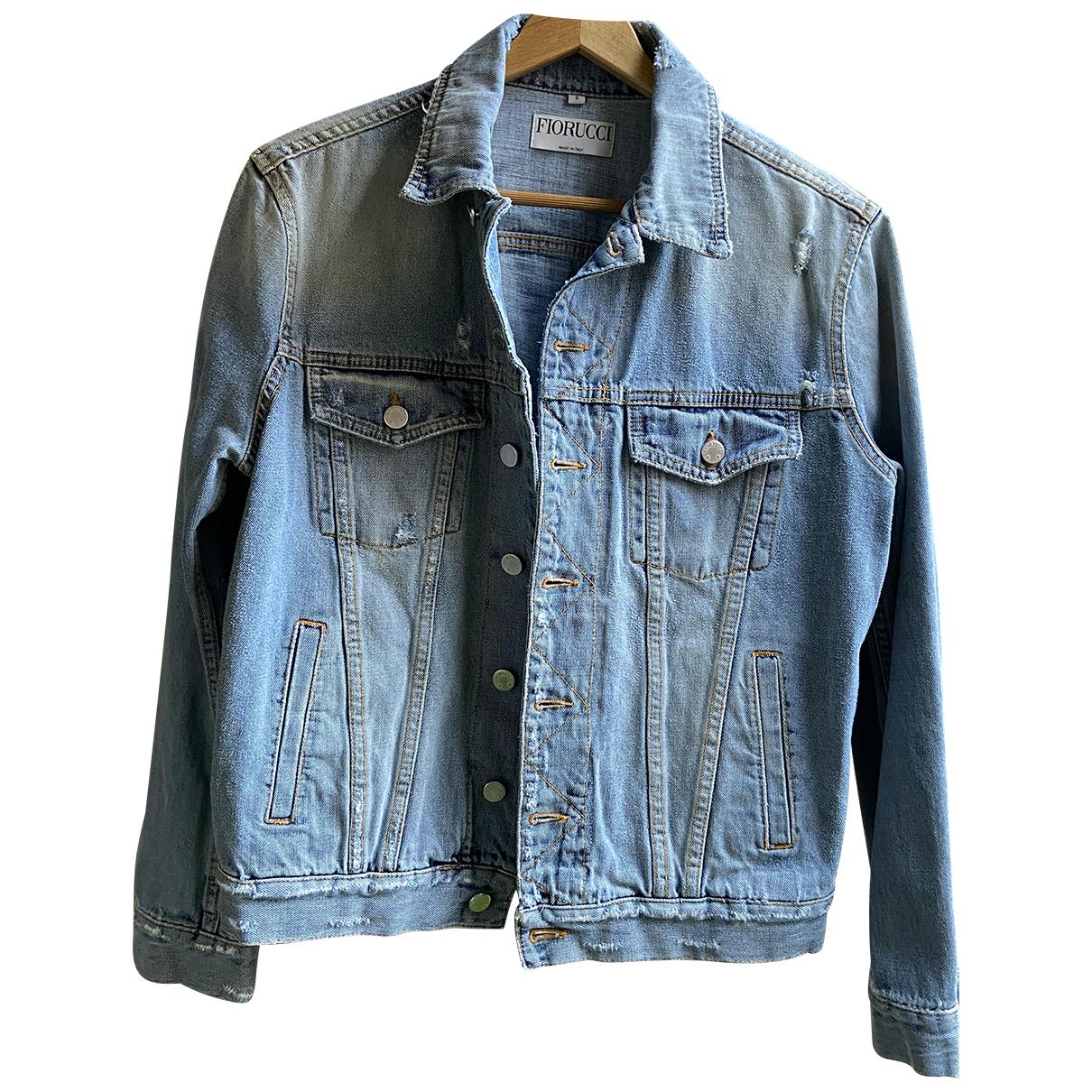 Fiorucci \N Lederjacke in  Blau Denim - Jeans