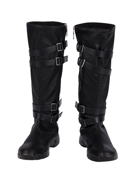 Milanoo Kylo Ren Cosplay Boots Star Wars: The Rise Of Skywalker Faux Leather Cosplay Shoes