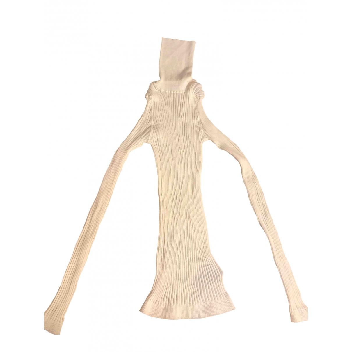 Bottega Veneta - Top   pour femme en coton - blanc