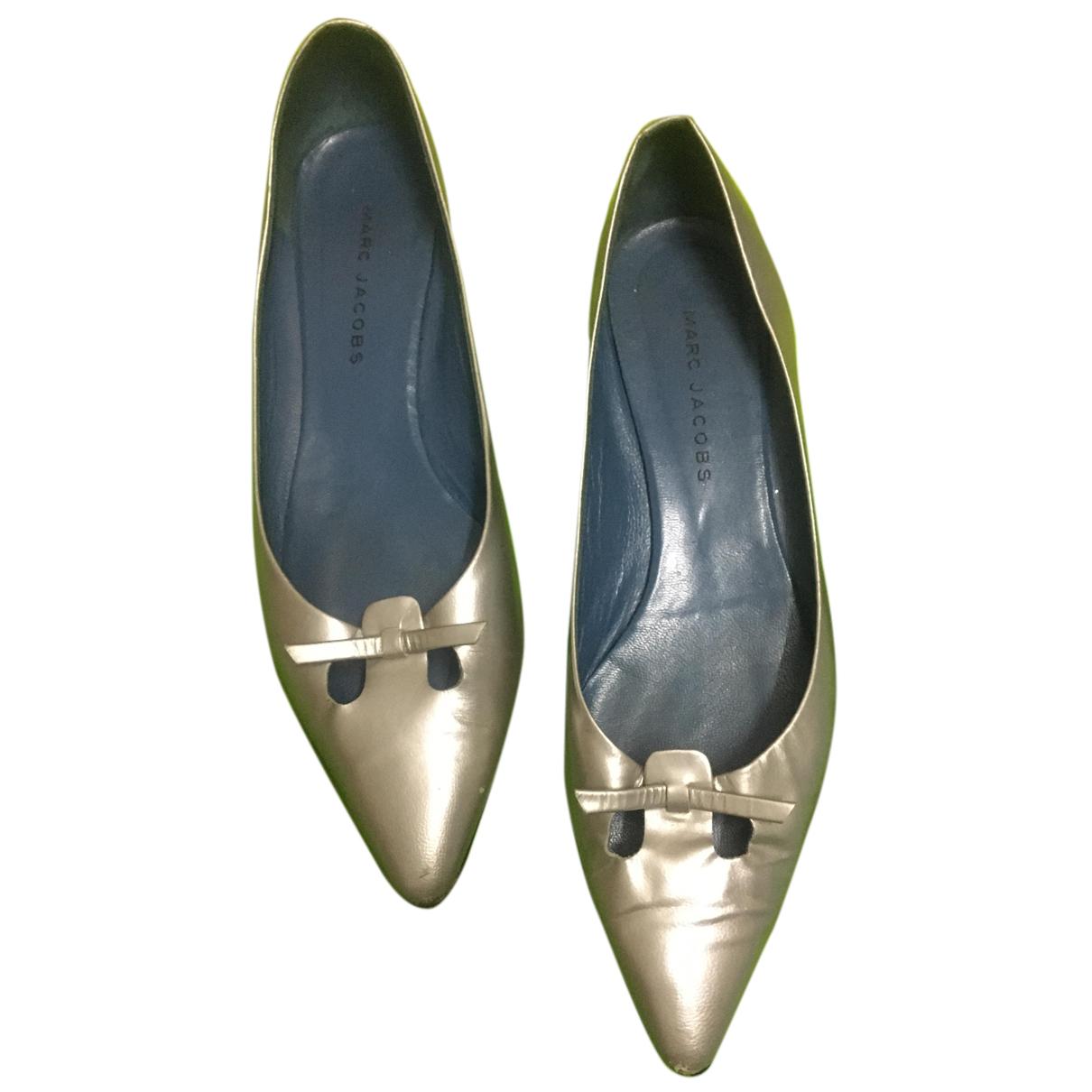 Marc Jacobs \N Ballerinas in  Silber Leder