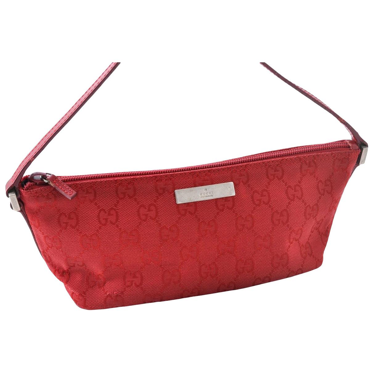 Gucci - Petite maroquinerie   pour femme en toile - rouge