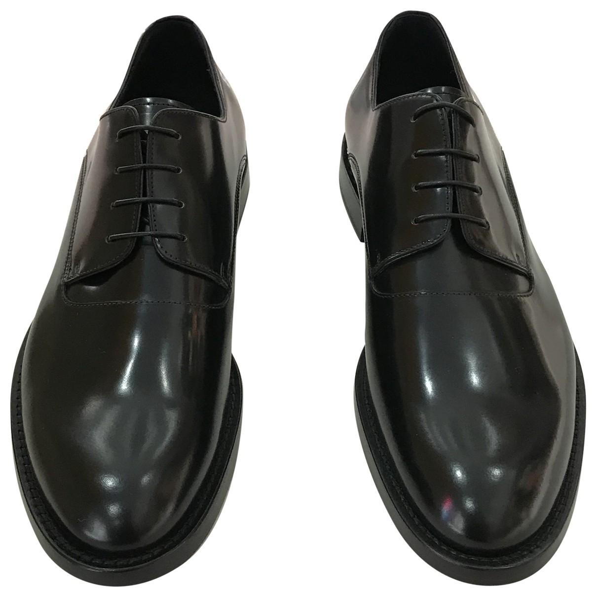 Fendi \N Black Leather Lace ups for Men 43 EU