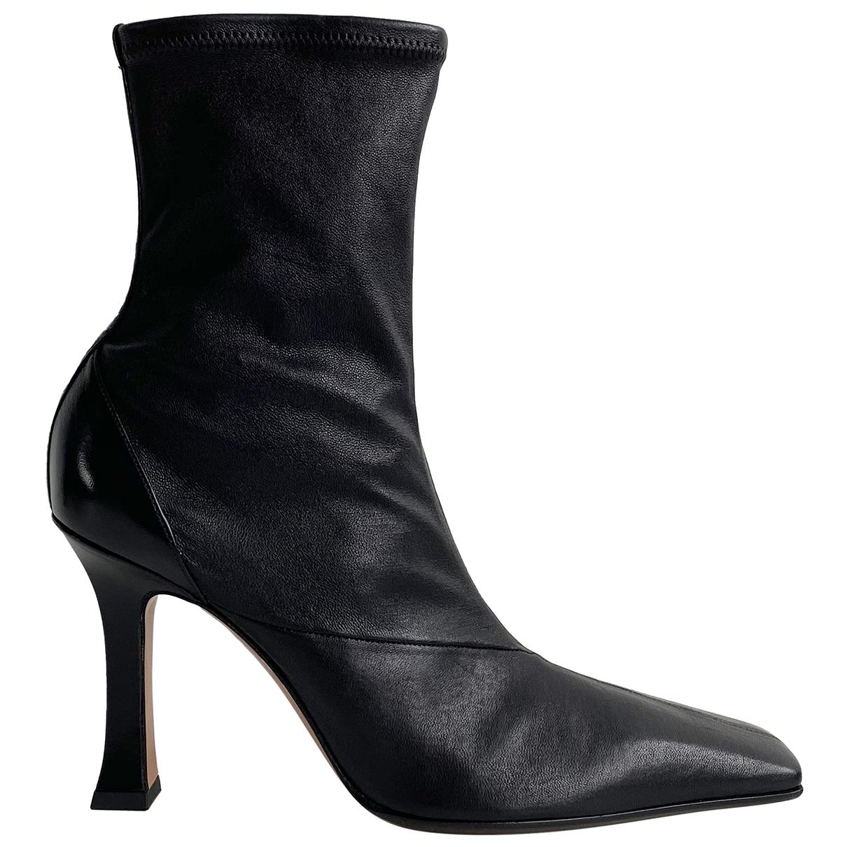 Celine Madame Stiefeletten in  Schwarz Leder
