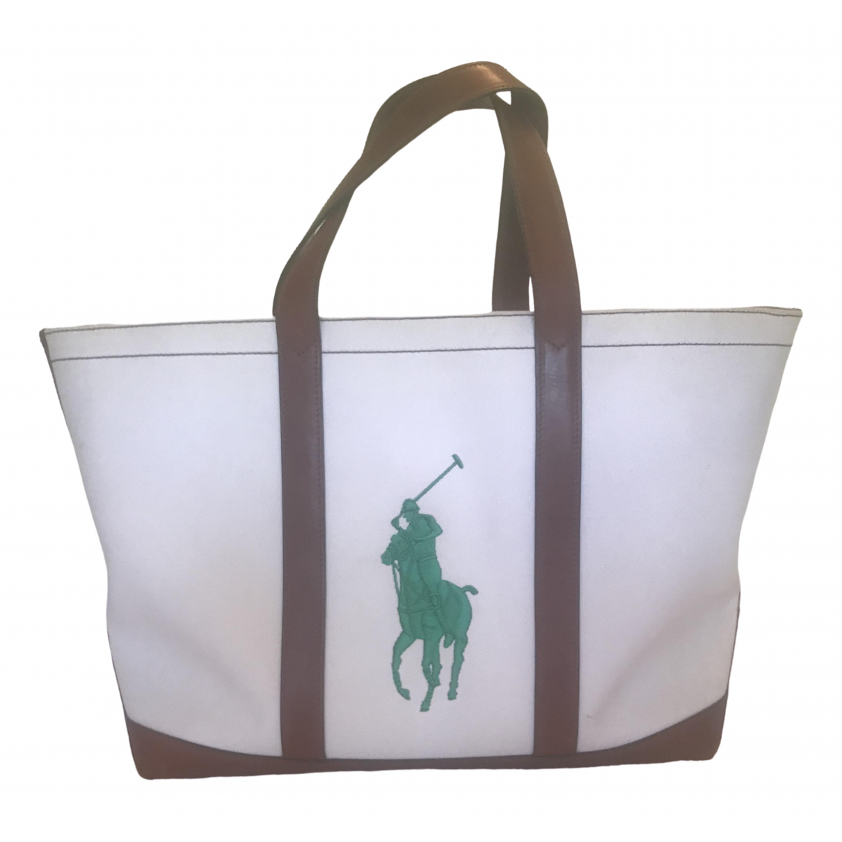 Ralph Lauren \N Handtasche in  Weiss Leinen
