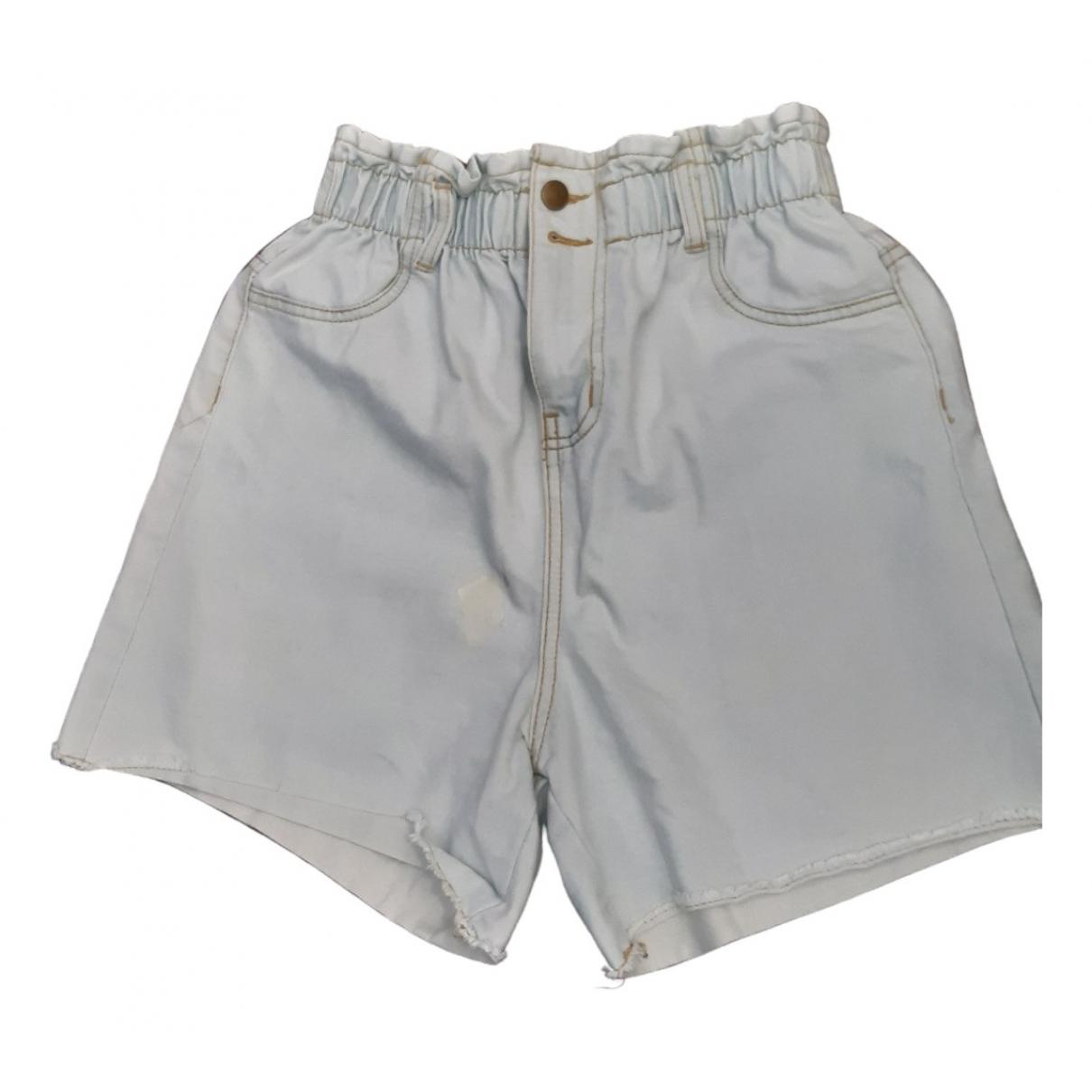 Non Signe / Unsigned \N Shorts in  Blau Baumwolle