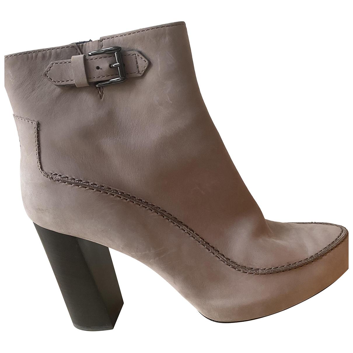 Tods - Boots   pour femme en suede - gris
