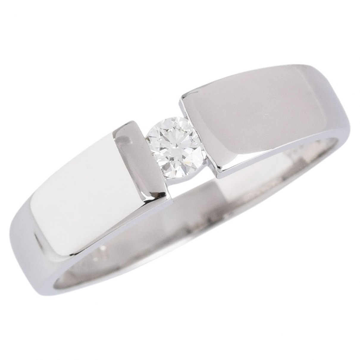 Non Signé / Unsigned \N Platinum ring for Women \N