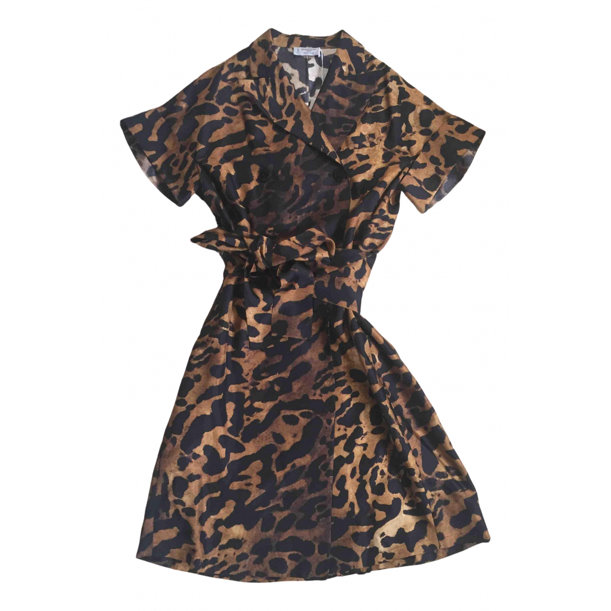 Alberto Biani \N Brown Silk dress for Women 38 IT
